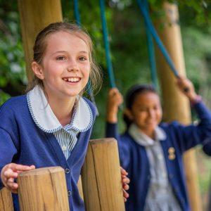 school girls in playground